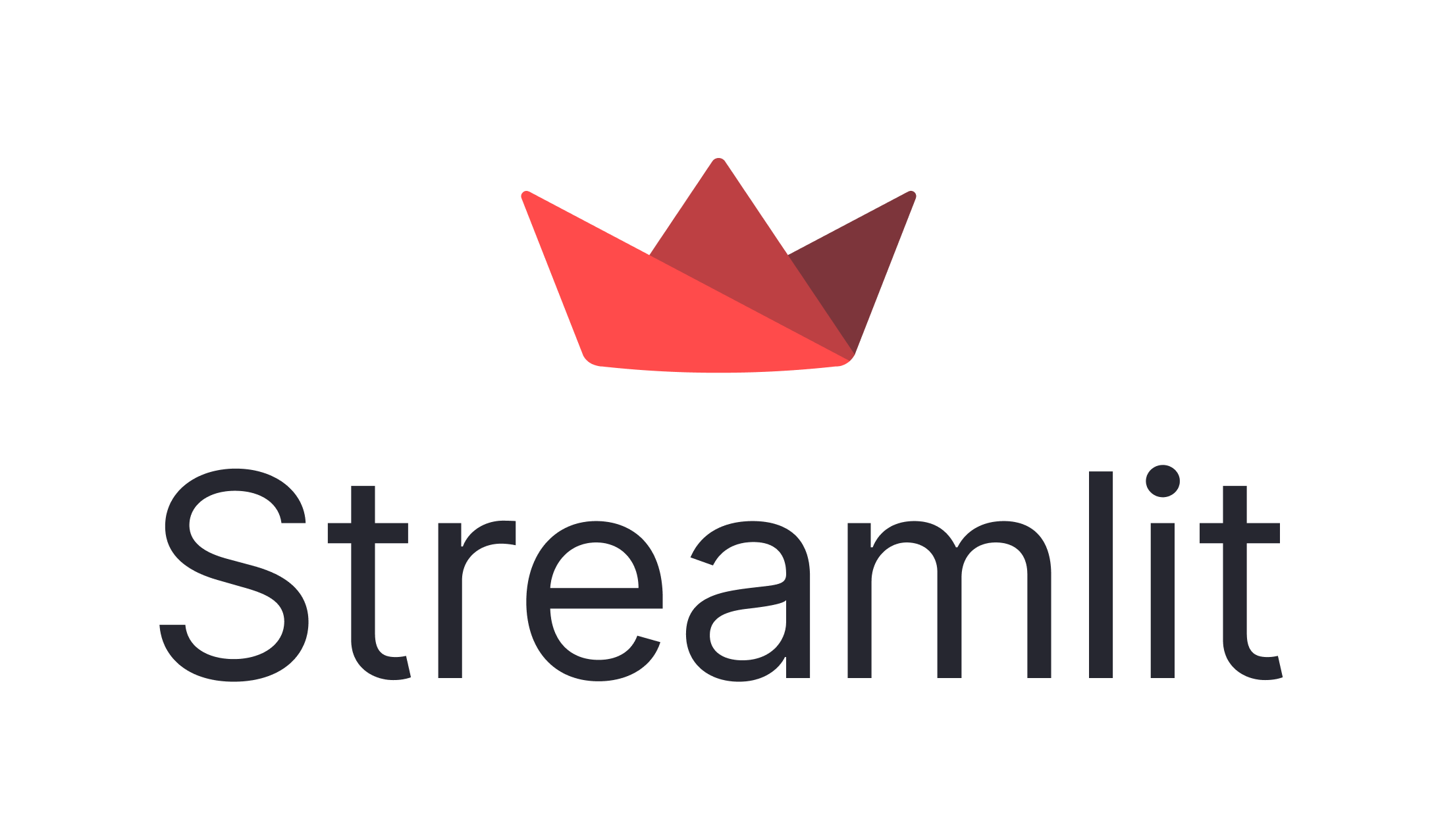 Streamlit logo on light background