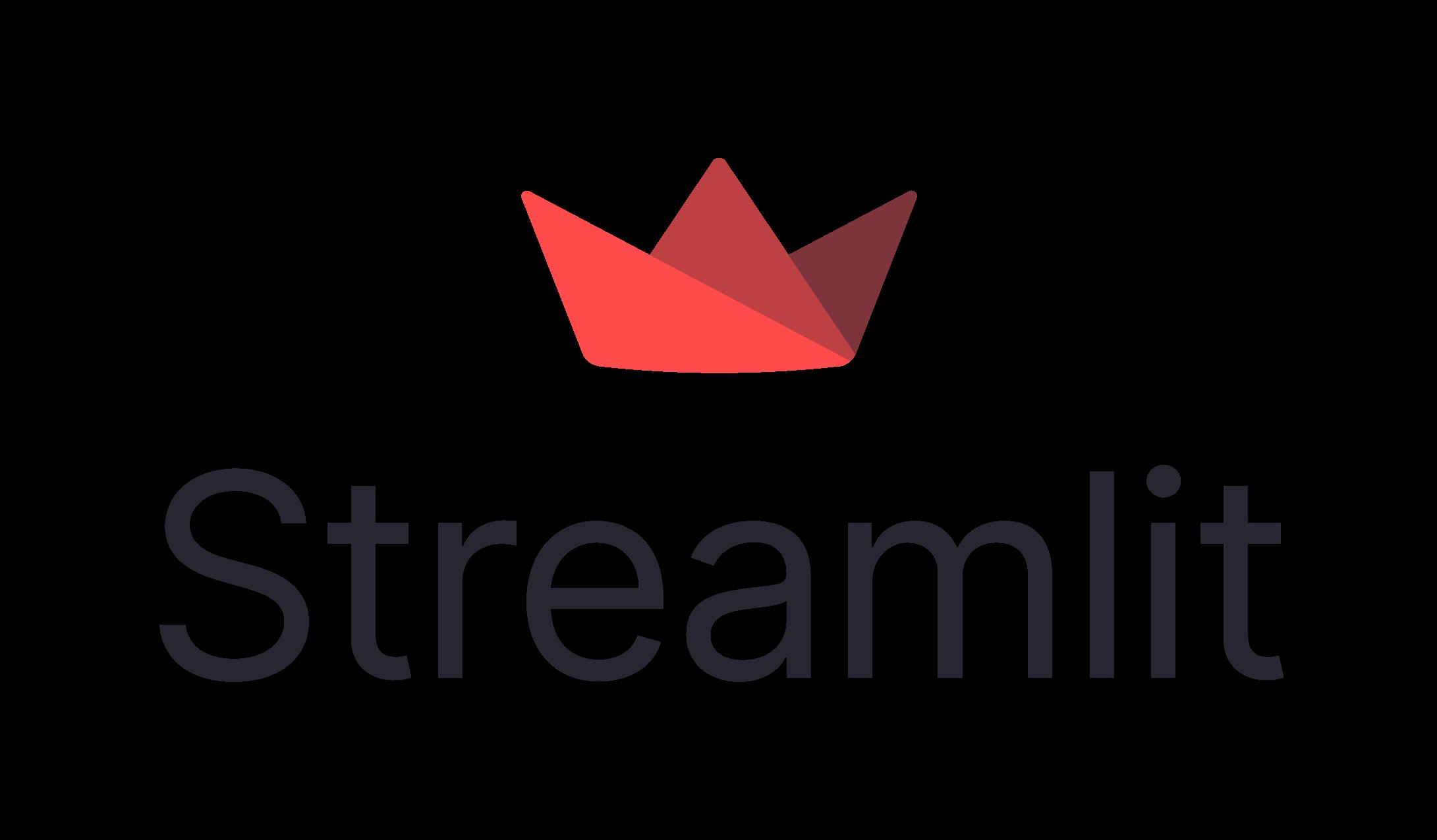Streamlit logo on light background